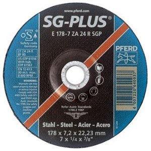 "Disco para Desbaste de 7"" x 7/8 ZA24 SG-PLUS - Pferd"