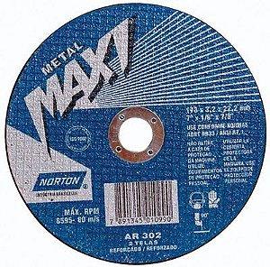 """Disco para Ferro de 7"""" x 7/8 Maxi - Norton"""