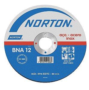 Disco para Inox de 4.1/2 x 1,0mm x 7/8 BNA12 - Norton