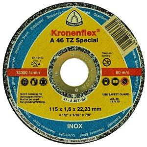 """Disco para Inox de 7"""" x 1,6mm x 7/8 SPECIAL CLASSE INDUSTRIAL A46TZ - Klingspor"""