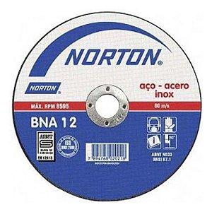 """Disco para Inox de 7"""" x 1,6mm x 7/8 BNA12 - Norton"""