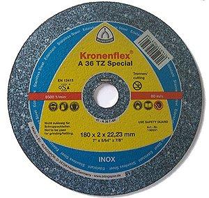 """Disco para Inox de 7"""" x 2,0mm x 7/8 Special Classe Industrial A36TZ - Klingspor"""