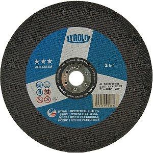 """Disco para Inox de 9"""" x 1,9mm x 7/8 Premium - Tyrolit"""
