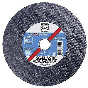 """Disco para Inox de 9"""" x 2,5mm x 7/8 SG-Elastic A24 - Pferd"""