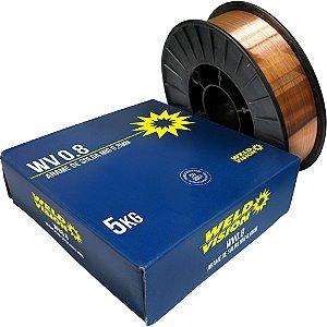 Arame Mig Revestido de 0.08mm em Rolo com 5kg - Weld Vision