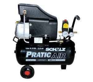 Motocompressor Pratic Air 8,2 Pés 25 Litros - Schulz