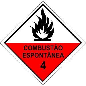 """Adesivo Simbologia """"Combustão Espontânea 4"""" de 30x30cm - Plastcor"""