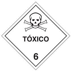 """Adesivo Simbologia """"Tóxico 6"""" de 30x30cm - Plastcor"""