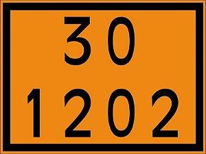 "Adesivo Numerologia ""30-1202"" Transporte de Diesel de 30x40cm - Plastcor"