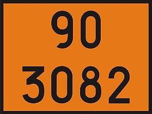 "Adesivo Numerologia ""90-3082"" Transporte de Oléo de 30x40cm - Plastcor"