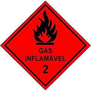 """Placa Simbologia """"Gás Inflamável 2"""" de 30x30cm - Plastcor"""