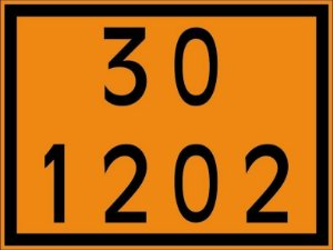 "Placa Numerologia ""30-1202"" Transporte de Diesel de 30x40cm - Plastcor"
