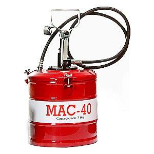 Bomba de Graxa (Engraxadeira) de 7kg Com Compactor / Mac Lub