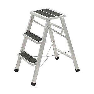 Escada Banqueta de Aço Residencial de 3 degraus - Metalmix