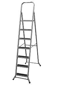 Escada de Aço Residencial de 7 Degraus - Metalmix