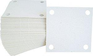 """Papelão Filtrante Quadrado de 7"""" x 7"""" com 4 Furos - Commerch"""