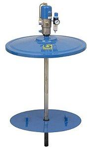Propulsora Pneumática (Engraxadeira) para Graxa para Tambor com Compactador e Tampa - Bozza