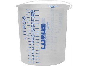 Balde de Polietileno de 20 litros Graduado - Lupus