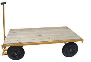 Carrinho Plataforma de 600kg com Assoalho em Madeira - Lynus
