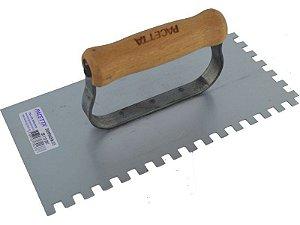 Desempenadeira em Aço Dentada de 12 x 25cm - Pacetta