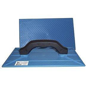 Desempenadeira em PVC Azul Corrugada  (Várias Medidas) - Bariplast