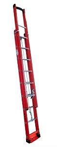 Escada de Fibra de Vidro Extensível de 19 Degraus - W.Bertolo