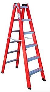 Escada de Fibra de Vidro Duplo Acesso de 8 Degraus - W.Bertolo