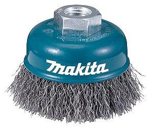 """Escova de Aço para Lixadeira Tipo Copo Ondulada de 4"""" - Makita"""