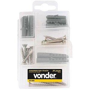 Kit Parafusos de 30 peças Chipboard - Vonder