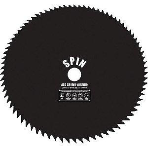 Lâmina / Serra para Roçadeira Circular de 255 x 20mm com 80 Dentes - Spin