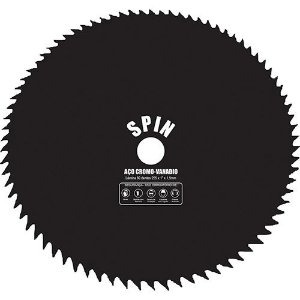 Lâmina / Serra para Roçadeira Circular de 255 x 25mm com 80 Dentes - Spin