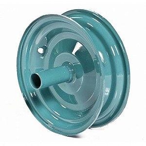 Roda para Carrinho de Mão Azul Chapa 16 - Metalpama