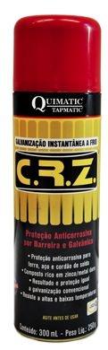 Spray C.R.Z Galvanização a Frio de 300ml - Quimatic