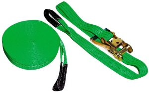 Kit Slackline Verde Cinta 10 Metros X 50mm 3 Toneladas + Catraca