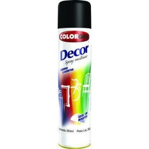 Tinta Spray Preto Fosco - Colorgin
