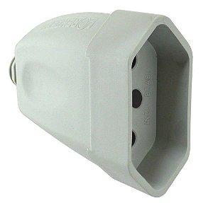 Plug Femea Cinza 3P 10A - Ilumi