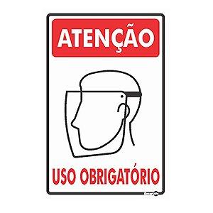 Placa 20 X 30 Uso Obrigatório Prot Facial - Encartale