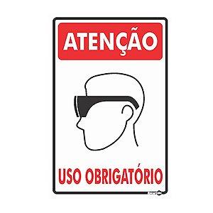 Placa 20 X 30 Uso Obrigatório Óculos - Encartale