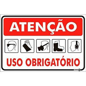 Placa 20 X 30 Uso Obrigatório - Encartale