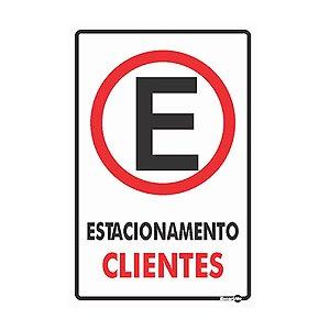Placa 20 X 30 Estacionamento Clientes - Encartale