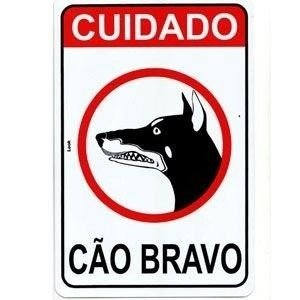 Placa 20 X 30 Cão Bravo - Look