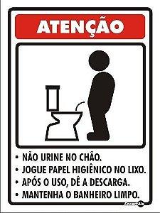 Placa 15 X 20 Não Urine no Chão - Encartale