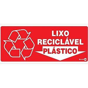 Placa 13 X 30 Lixo Reciclável Plástico - Encartale
