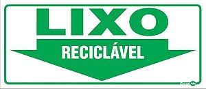 Placa 13 X 30 Lixo Reciclável  - Encartale