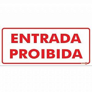 Placa 13 X 30 Entrada Proibida - Encartale
