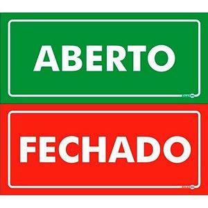 Placa 13 X 30 Aberto / Fechado - Encartale