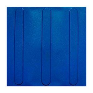 Piso Tátil 25 X 25 Direcional Azul - BRP Plásticos