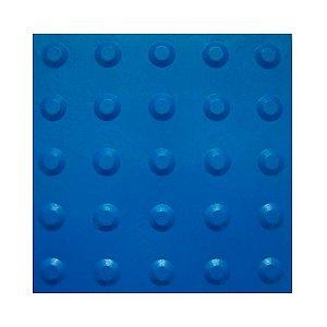 Piso Tátil 25 X 25 Alerta Azul - Brp Plásticos