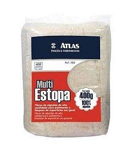 Estopa Branca de 400g - Atlas