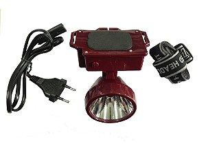 Lanterna de Cabeça Recarregavel 01 Led - Yasin